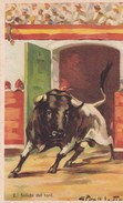 SALIDA DEL TORIL. CORRIDA TAUREAU/BULL/TORO. ILLUSTRATION, GIRALT LERIN. CIRCA 1920S SPAIN/L'ESPAGNE  - BLEUP - Corrida