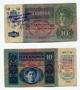 Serbie Serbia Ovp Austria Hungary Ovp 10 Kronen 1915 RARE !!! # 13 - Serbie