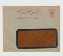 Empreinre Mécanique Sur LSC 1931 - Flamme Muette-vague -  Nancy RP - Marcophilie (Lettres)