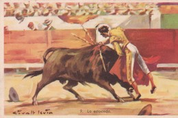 LA ESTOCADA. CORRIDA. ILLUSTRATION, GIRALT LERIN. CIRCA 1920S SPAIN/L'ESPAGNE  - BLEUP - Corrida