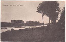 035  FIRENZE UNA VEDUTA DELL'ARNO ANIMATA 1920 CIRCA - Firenze