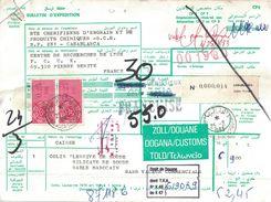MAROC  - BULLETIN D'EXPEDITION COLIS POSTAL - CACHET CASABLANCA COLIS POSTAUX  - LE 25-2-1983  (P1) - Marruecos (1956-...)