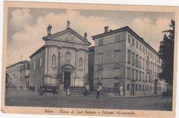 041  UDINE CHIESA DI SANT ANTONIO E PALAZZO ARCIVESCOVILE ANIMATA 1940 CIRCA - Udine