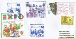 BURUNDI.EXPO UNIVERSELLE MILANO 2015. Lettre Du Pavillon Du Burundi à Milan, Postée Bureau De Milano Borromeo - Burundi
