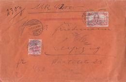 DR Wertbrief Mif Minr.86I, 94AI Frankfurt 12.11.07 Gel. Nach Leipzig - Briefe U. Dokumente