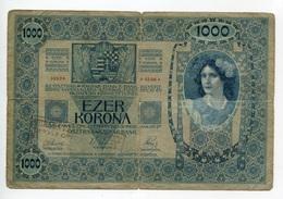 Serbie Serbia Ovp Austria Hungary Overprint 1000 Kronen 1902 RARE # 1 - Serbie
