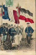 CPA - HOHNECK (68)(88) - Les Douaniers Français Et Allemands Devant La Borne Frontière Au Sommet Du Col En 1910 - Autres Communes