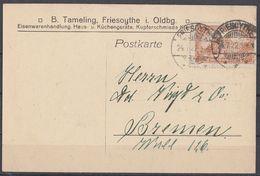 DR Karte EF Minr.114b Friesoythe 24.7.22 Geprüft Tworek BPP - Deutschland