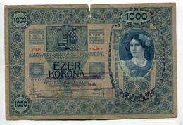 Serbie Serbia Ovp Austria Hungary Overprint 1000 Kronen 1902 RARE # 2 - Serbie