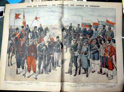 TURQUIE TURKEY GUERRE DES BALKANS GRANDE GRAVURE PRESENTANT LES UNIFORMES DES ARMEES TURQUES ET BALKANIQUES 1912 - Documents Historiques