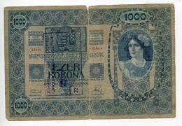 Serbie Serbia Ovp Austria Hungary Overprint 1000 Kronen 1902 RARE # 3 - Serbie