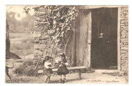 La Coruña - Casa Aldeana - Animación - Niños - 1910 - Ed Papeleria De La Fuente - La Coruña