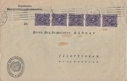 DR Brief Mef Minr.5x 230 Walze München 6.4.23 Geprüft - Deutschland