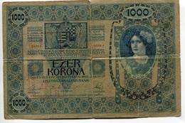 Serbie Serbia Ovp Austria Hungary Overprint 1000 Kronen 1902 RARE # 4 - Serbie