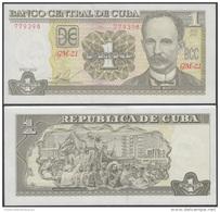 2016-BK-5 CUBA 1$ 2016 JOSE MARTI. UNC. - Cuba