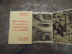 Carnet Fete Du Cinquantenaire Et Consécration De La Nouvelle Basilique - Brebières -1952 - Albert