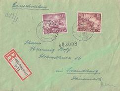 DR R-Brief Mif Minr.837,841 Oldenburg Gel. Nach Dänemark Zensur - Briefe U. Dokumente