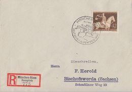 DR R-Brief EF Minr.854 SST München 25.7.43 FDC - Briefe U. Dokumente