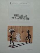 Fascicule De Présentation Du Timbre Lucky Luke, N° 15 De 1990, Philatélie De La Jeunesse - Postdocumenten