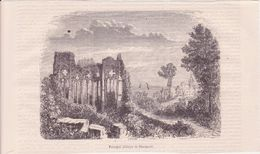 Gravure  - PAIMPOL Abbaye De Beauport - Affiches