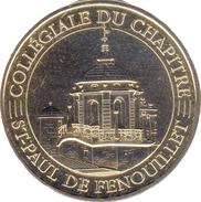 66 PYRÉNÉES ORIENTALES SAINT PAUL DE FENOUILLET COLLÉGIALE MÉDAILLE MONNAIE DE PARIS 2017 JETON MEDALS TOKEN COINS - 2017