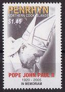 PENRHYN 2005 - Hommage à Jean Paul II - 1 Val Neufs // Mnh - Penrhyn