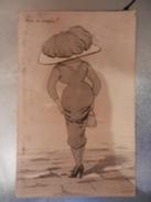 14341) DOPO LA PIOGGIA ILLUSTRATORE NON RILEVATO VIAGGIATA 1916 E TASSATA CENTESIMI 10 - Moda