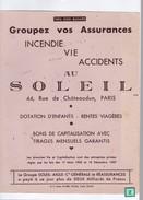 1 Buvard  : Compagnie    Soleil - Blotters