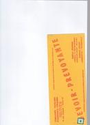 1 Buvard  : Compagnie  :  Devoir -prévoyance - Buvards, Protège-cahiers Illustrés