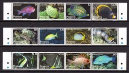 PENRHYN 2012 - Série Courante, Poissons Exotiques Du Pacifique - 12 Val Neufs // Mnh // CV 100.00 - Penrhyn