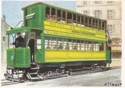 """IMAGE CIBON -- Série éducative -- L'histoire De La Voiture  -- Tramway électrique à """" IMPERIALE """" (1881)   -- N° 763 - Other"""