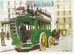 IMAGE CIBON -- Série éducative -- L'histoire De La Voiture  -- Omnibus à Chevaux (1880)   -- N° 762 - Other