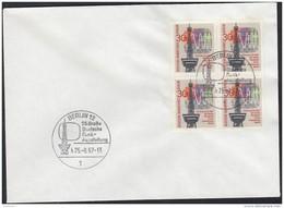 BERLIN 309, 4erBlock, Auf Brief Mit Sonderstempel: Berlin 25. Große Deutsche Funk-Ausstellung 25.8.1967 - Berlin (West)