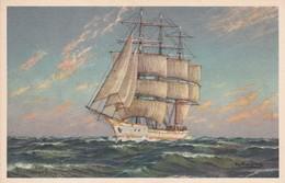 SAILING VESSEL. ILLUSTRATION P.V. KALCKREUTH. CIRCA 1940S  - BLEUP - Künstlerkarten
