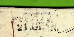 LETTRE NIZZA 1845 TAXE MANUSCRITE 11 Pour Paris Cachet Entrée Rouge Sardaignes Antibes - 1801-1848: Vorläufer XIX
