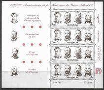 1998 MONACO 2154 ** Albert Premier, Marine, Unesco, Feuillet - Monaco