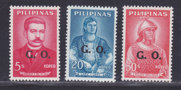 PHILIPPINES SERVICE N°   89, 93, 94 ** MNH Neufs Sans Charnière, TB (D1927) G.O. = Gawaing Opisyal - Philippines