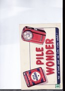 1 Buvard :   Pile Wonder - Electricity & Gas