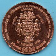 GABON Essai 5000 Francs 1971  Georges POMPIDOU  Copper-Alu-Nickel KM11 ESSAI (E) E5 - Gabon