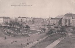 LEIPZIG Blücherplatz Mit Centralbahnof Im Bau (1912) - Leipzig
