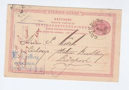 1889 SWEDEN STATIONERY To  LIVERPOOL EXCHANGE STATION GB  Postal CARD Cover Stamps Goteborg - Postal Stationery