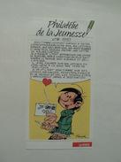 Fascicule De Présentation Du Timbre Gaston Lagaffe, N° 16 De 1992, Philatélie De La Jeunesse - Documents De La Poste