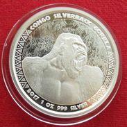 Congo 5000 Fr 2017 Gorilla Silver - Congo (République Démocratique 1998)