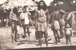 "Cp  Photo -  Marque Au Dos  Manuscrit   "" Indiens De Guyane"" - Guyane"