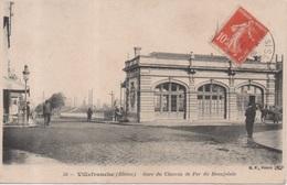35 - Villefranche Sur Saone ( Rhône ) - Gare Du Chemin De Fer Du Beaujolais - Villefranche-sur-Saone