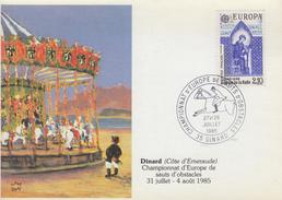 Carte   Championnat  D'  Europe   De   Sauts   D' Obstacles    DINARD  1985 - Jumping