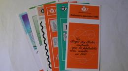 Fascicules De Présentation Des Timbres Spéciaux, 1980, 1984, 1985, 1986, 1989, 1992 - Documents De La Poste
