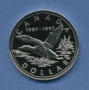 Kanada 1997 Silber Dollar Eistaucher KM 296, PP (m1295) - Canada
