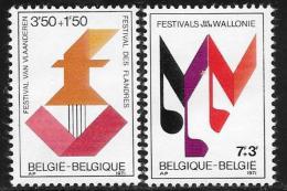 Belgium, Scott # B874-5 MNH Festivals, 1971 - Belgium