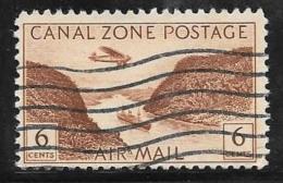 Canal Zone, Scott # C8 Used Gaillard Cut, 1946 - Canal Zone